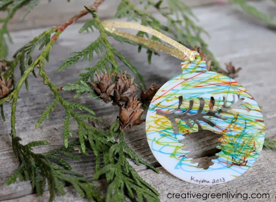 Creative shrink film Christmas ornament crafts