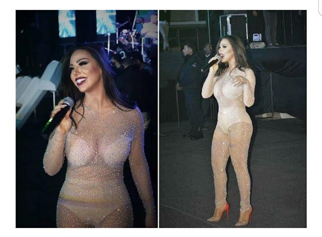 لولا جفان بملابس شفافة وفاضحة في حفل راس السنة بدمشق