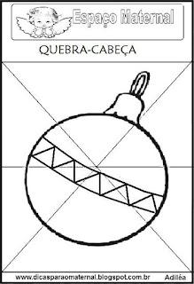 Quebra-cabeça da bola de natal