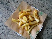 papel patatas fritas papas fritas