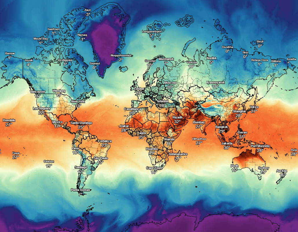 Interactive Weather Forecast Map