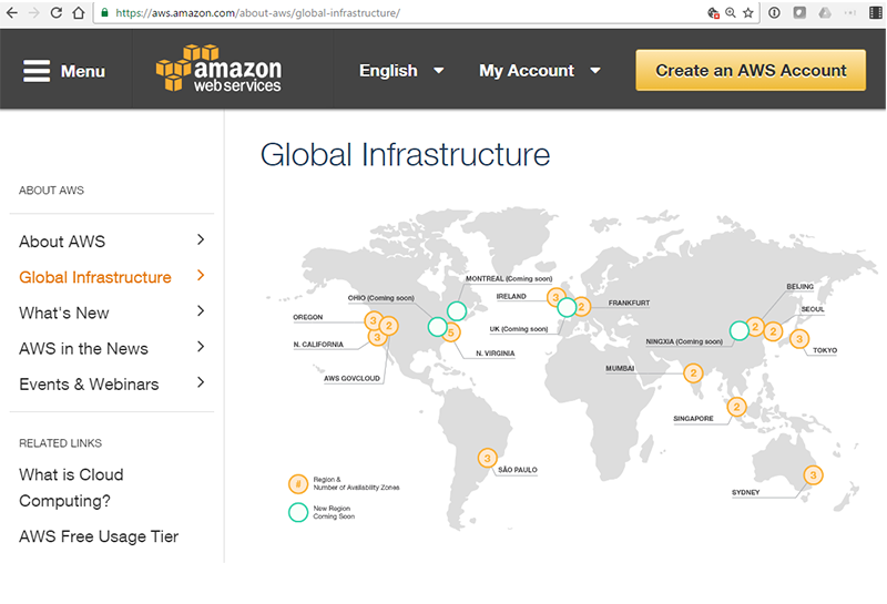 Converge! Network Digest: AWS Plans New Availability Region