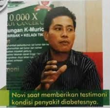 novi ziliwu sembuh dari diabetes