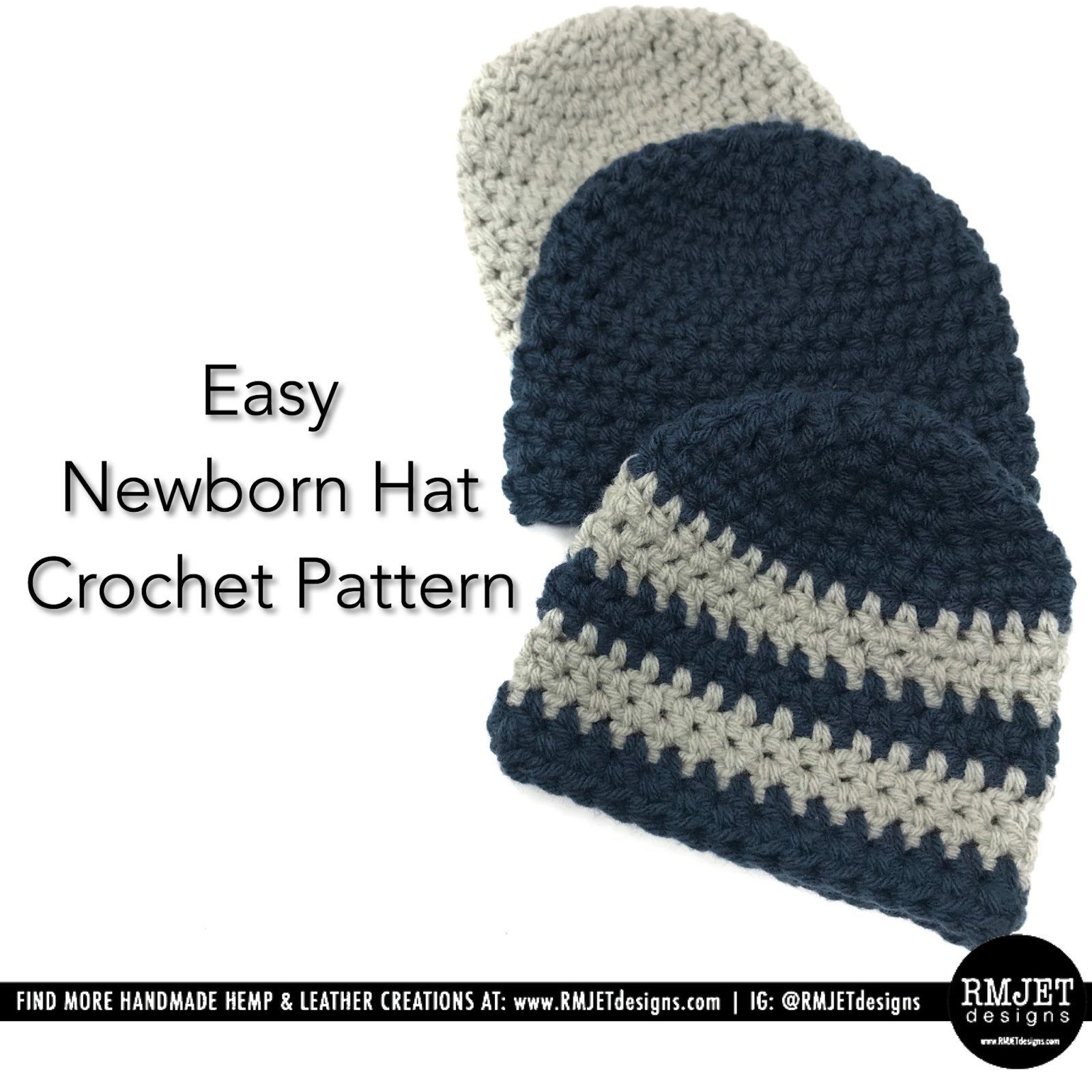 FREE Newborn Baby Hat Crochet Pattern by RMJETdesigns