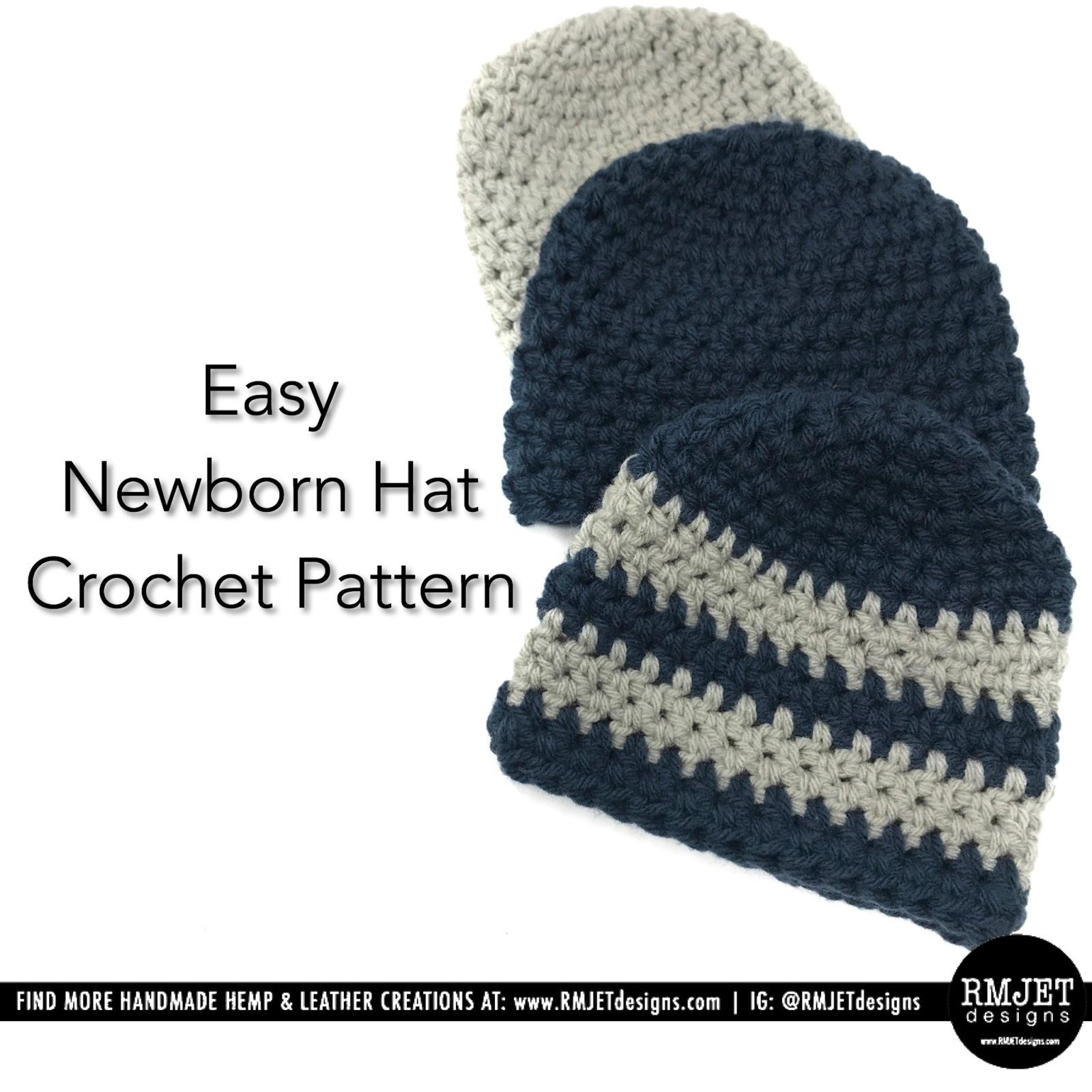 FREE Newborn Baby Hat Crochet Pattern by RMJETdesigns