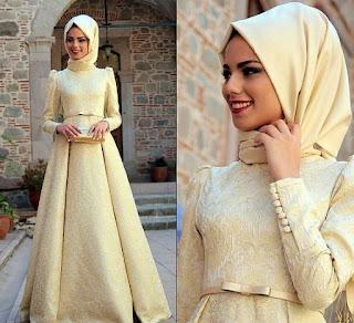 Model Baju Brokat Muslim