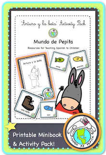 Colors in Spanish Theme Activity Pack for Kids