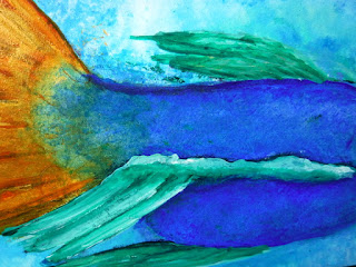 FLUID ACRYLICS ON GESSO BOARD: MERMAID
