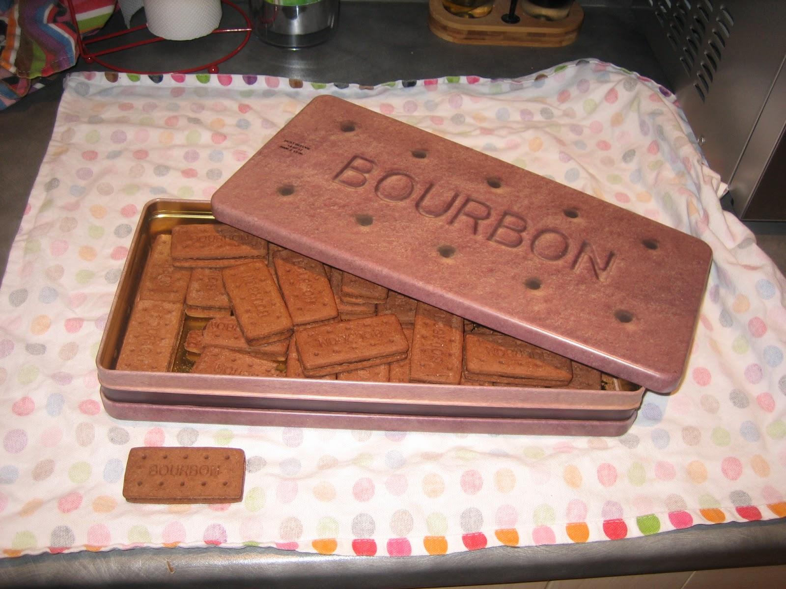 The Tin S Dimensions Are Approximately 5x Those Of Biscuits Inside Contents Shown For Scale