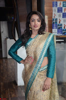 Tejaswi Madivada looks super cute in Saree at V care fund raising event COLORS ~  Exclusive 028.JPG