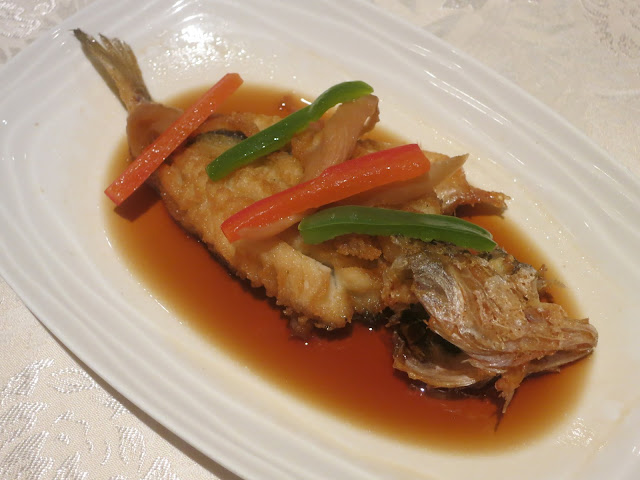 Boiled Yellow Croaker in Soya Sauce