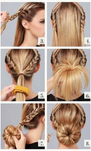 Braid Into Bun Sock Bun Tutorial