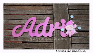 letras de madera infantiles para pared Adri silueta malabarista babydelicatessen