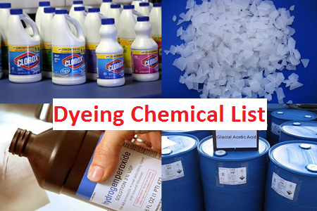 Dyeing chemical and auxiliaries