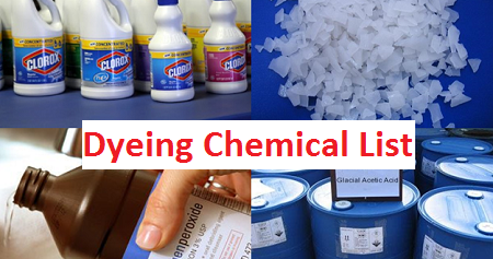 List of Chemicals Used in Textile Dyeing Industry - Textile
