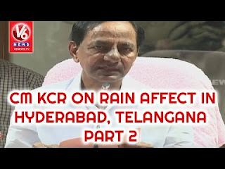 CM KCR Press Meet | Review On Rain Affect In Hyderabad, Telangana | Part-2