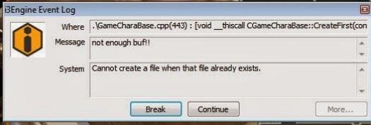 I3Engine Event Log not enough buf!!