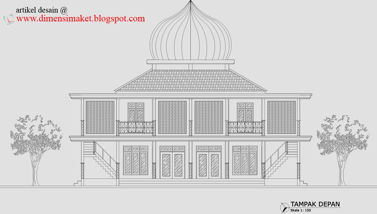 Gambar Desain Masjid Musholla 003 Contoh Gambar 2 Lantai ...