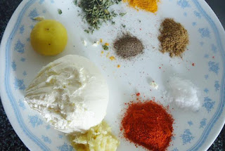 Chicken tikka ingredients
