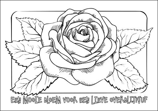 Kleurplaten Roos.Kleurplaten Als Geschenk Op De Nationale Overblijfdag Overblijf