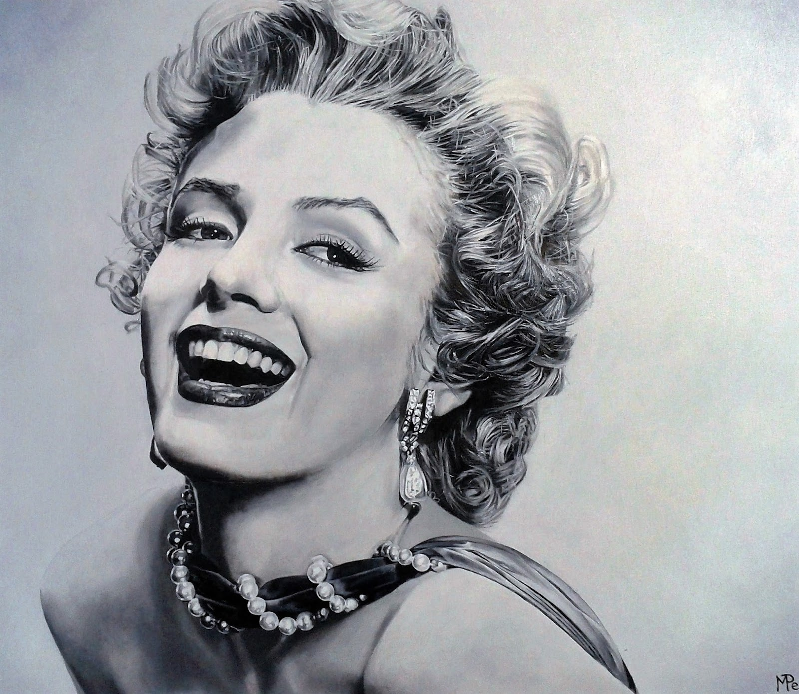 Marilyn Monroe Peinture Miriam Peters Rouyer Artiste Peintre Quotnorma Jeane