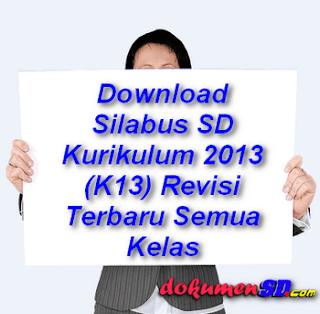Download Silabus Kurikulum 2013 Revisi Jenjang SD Semua Mata Pelajaran