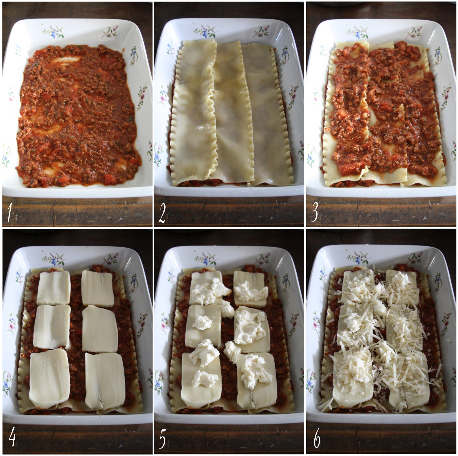 how to layer lasagna pictures