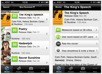 Free Movie Finder iPhone app released by Metacritic