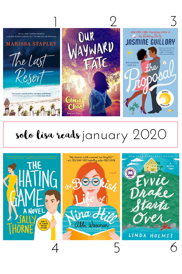 Round-up of books read and recommended by Vancouver life and style blogger Solo Lisa in January 2020