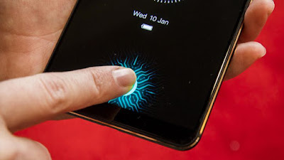 Smartphones with In-display fingerprint sensor