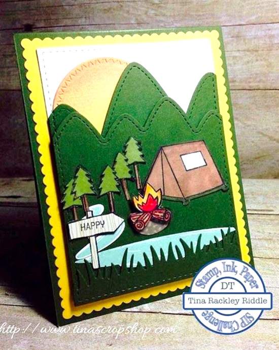 Warm & Fuzzy Friends stamp set and Zig Zag Stitched Circle Die-namics - Tina Riddle #mftstamps