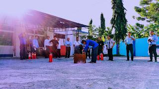 Persiapan Simulasi Pemadaman Kebakaran