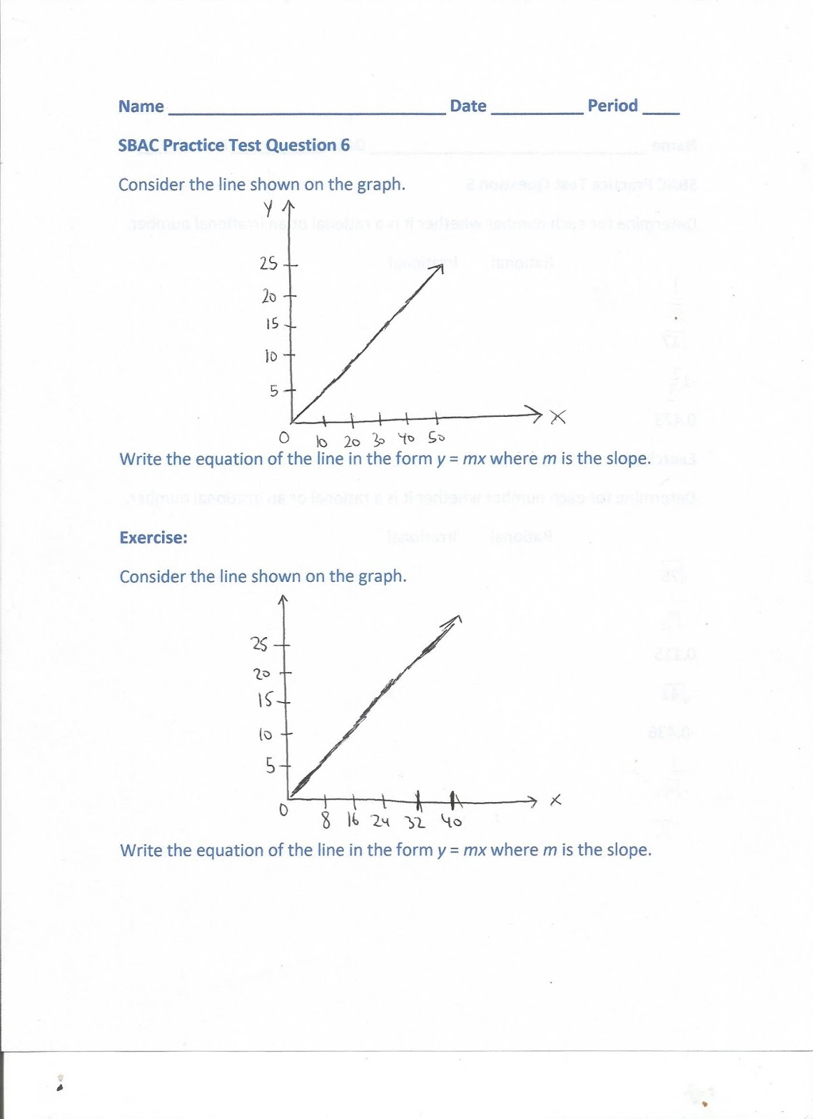 Geometry Common Core Style Sbac Practice Test Questions 5 6 Day 164