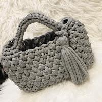 TシャツヤーンSmooTeeチャビー玉編みバッグの編み方