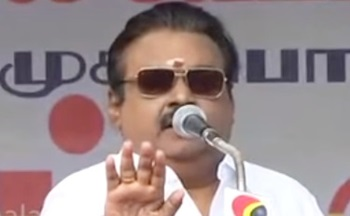 Don't receive the money for voting: Vijayakanth asked people during DMDK campaign