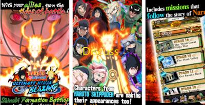Naruto Ultimate ninja blazing game apk mod