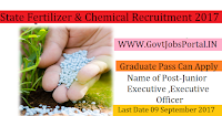 Gujarat State Fertilizers & Chemicals Recruitment 2017– Junior Executive & Executive Officer