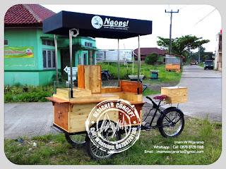 gerobak sepeda kopi ngops