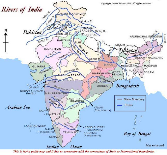 River System in India: Geography Study Notes