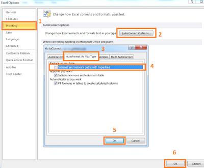 Cara Menghapus Hyperlink Secara Otomatis Pada Excel
