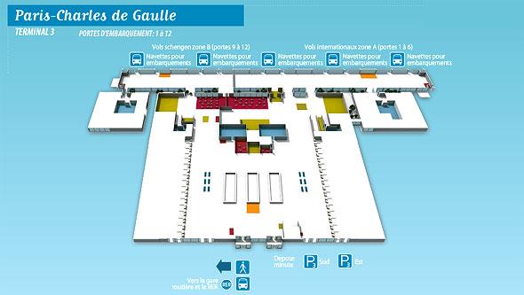 dicas pr ticas de franc s para brasileiros mapa aeroporto charles de gaulle e seus terminais. Black Bedroom Furniture Sets. Home Design Ideas
