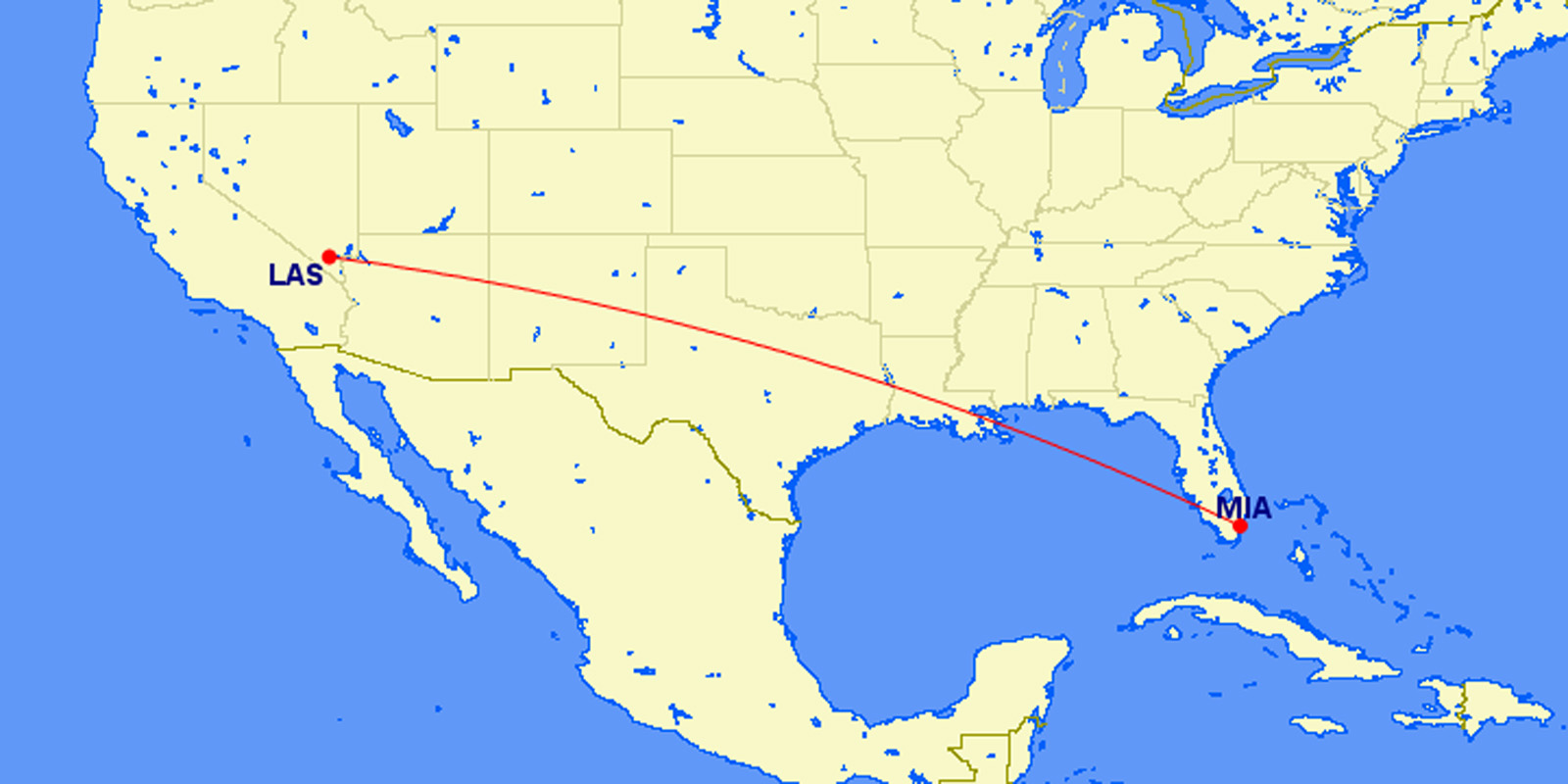 miami to las vegas cheap 183 roundtrip american airlines aadvantage mileage run