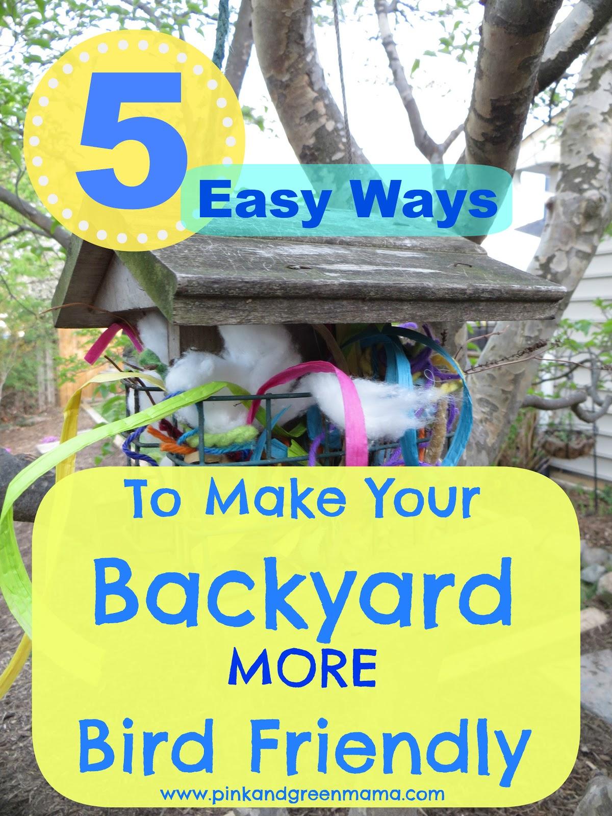 pink and green mama 5 easy ways make your backyard more bird