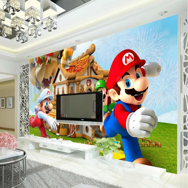 Barntapet Pojke Tapet Barnrum Pojke Fototapet Barn Barntapeter Super Mario Nintendo Games