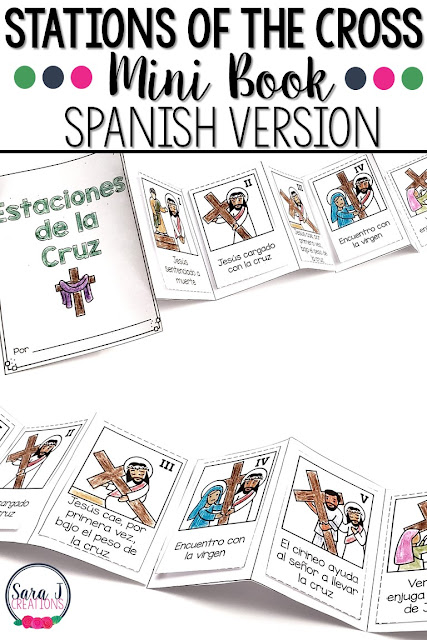 Stations of the cross mini book in spanish