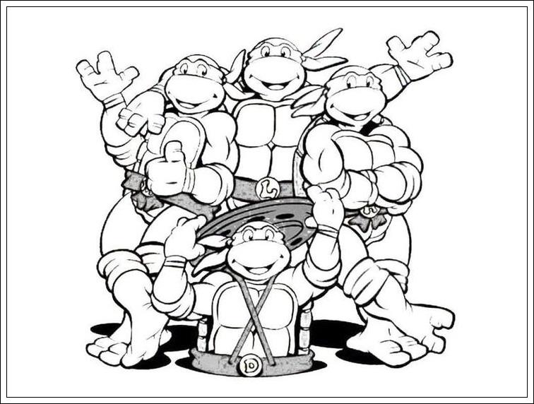 Ausgezeichnet Malvorlagen Von Ninja Turtles Ideen - Beispiel ...