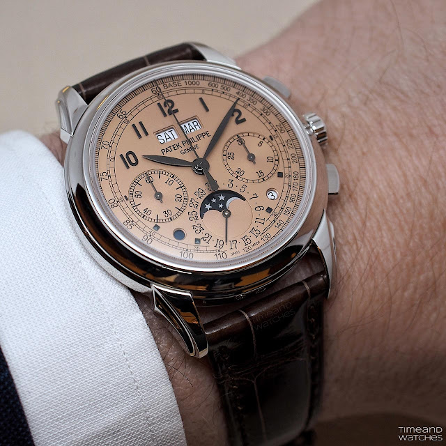 Patek Philippe Ref. 5270P in platinum with Salmon dial