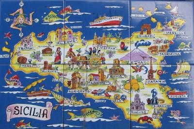 Mappa Sicilia in Miniatura