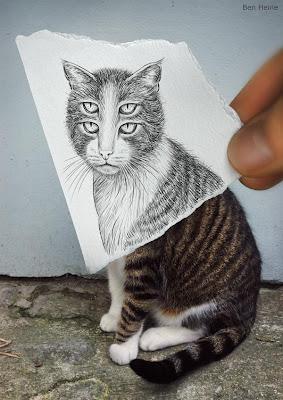 Dibujo a lápiz contra la cámara fotográfica.