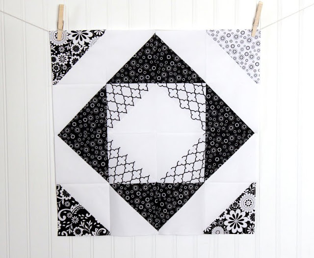Half square triangle quilt block tutorial - and see what a whole quilt would look like!